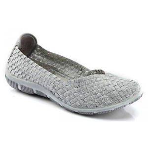 Helens Heart Womens CFW-S03 Silver Fabric/Lace Sneakers Casual Shoes