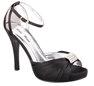 Helens Heart Womens FS-A8818-45 Black Synthetic Sandals Prom and Evening Shoes