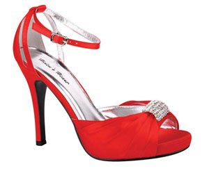 Helens Heart Womens FS-A8818-45 Red Synthetic Sandals Prom and Evening Shoes