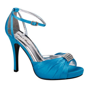 Helens Heart Womens FS-A8818-45 Turquoise Synthetic Sandals Prom and Evening Shoes