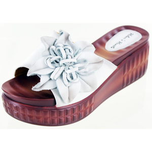 Helens Heart Womens cfw-l16 White Leather Sandals Casual Shoes