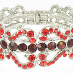 Jewelry by HH Womens JB-PD00337 red Beaded   Bracelets Jewelry
