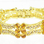 Jewelry by HH Womens JB-PD00338 topaz Beaded   Bracelets Jewelry