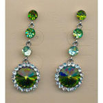 Jewelry by HH Womens JE-X001831 green Beaded   Earrings Jewelry