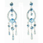 Jewelry by HH Womens JE-X001913 blue Beaded   Earrings Jewelry