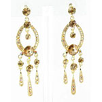 Jewelry by HH Womens JE-X001913 gold/tope Beaded   Earrings Jewelry