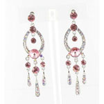 Jewelry by HH Womens JE-X001913 pink Beaded   Earrings Jewelry
