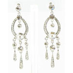 Jewelry by HH Womens JE-X001913 clear Beaded   Earrings Jewelry