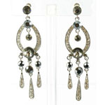 Jewelry by HH Womens JE-X001913 black hermatite Beaded   Earrings Jewelry
