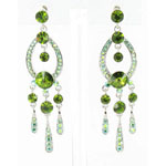 Jewelry by HH Womens JE-X001913 olive Beaded   Earrings Jewelry
