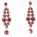 Jewelry by HH Womens JE-X001928 rose Beaded   Earrings Jewelry