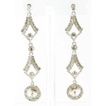 Jewelry by HH Womens JE-X002126 clear Beaded   Earrings Jewelry