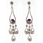 Jewelry by HH Womens JE-X002737 amethyst Beaded   Earrings Jewelry