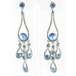 Jewelry by HH Womens JE-X002737 aqua Beaded   Earrings Jewelry
