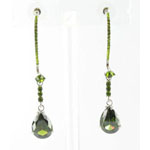 Jewelry by HH Womens JE-X003116 olive Beaded   Earrings Jewelry