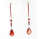 Jewelry by HH Womens JE-X003116 siam red Beaded   Earrings Jewelry