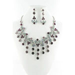 Jewelry by HH Womens NS-H005085 purple Beaded   Necklaces Jewelry
