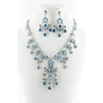 Jewelry by HH Womens NS-H1959 blue Beaded   Necklaces Jewelry
