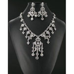 Jewelry by HH Womens NS-H1959 clear Beaded   Necklaces Jewelry