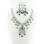 Jewelry by HH Womens NS-H1959 green Beaded   Necklaces Jewelry