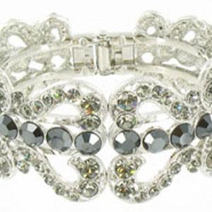Jewelry by HH Womens JB-PD00337 hematite Beaded   Bracelets Jewelry