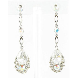 Jewelry by HH Womens JE-X001790 clear Beaded   Earrings Jewelry