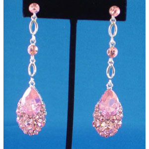 Jewelry by HH Womens JE-X001790 pink Beaded   Earrings Jewelry