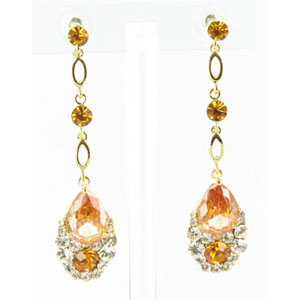 Jewelry by HH Womens JE-X001790 topaz Beaded   Earrings Jewelry