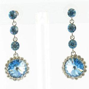 Jewelry by HH Womens JE-X001831 aqua Beaded   Earrings Jewelry