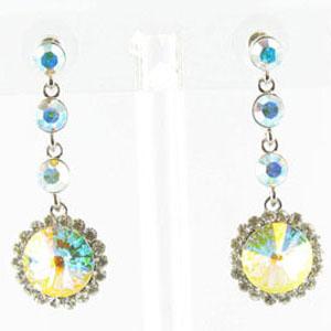 Jewelry by HH Womens JE-X001831 silver Beaded   Earrings Jewelry