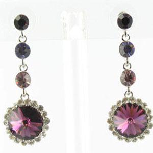 Jewelry by HH Womens JE-X001831 amethyst Beaded   Earrings Jewelry