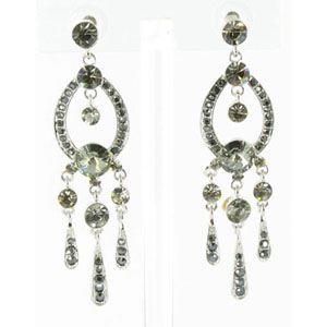 Jewelry by HH Womens JE-X001913 black diamond Beaded   Earrings Jewelry