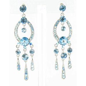 Jewelry by HH Womens JE-X001913 blue Beaded   Earrings Jewelry