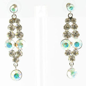 Jewelry by HH Womens JE-X001928 ab clear Beaded   Earrings Jewelry