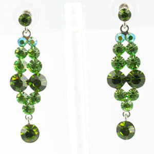 Jewelry by HH Womens JE-X001928 olive Beaded   Earrings Jewelry