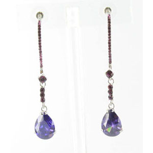 Jewelry by HH Womens JE-X003116 amethyst Beaded   Earrings Jewelry