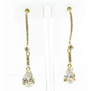 Jewelry by HH Womens JE-X003116 clear Beaded   Earrings Jewelry