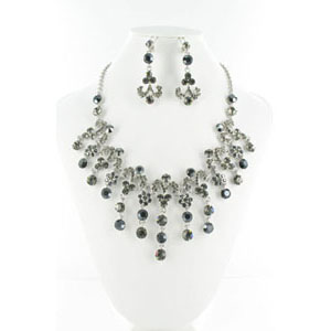Jewelry by HH Womens NS-H005085 black Beaded   Necklaces Jewelry