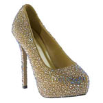 Johnathan Kayne Womens Glitterati Taupe Synthetic Sandals Pageant Shoes