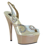 Johnathan Kayne Womens Stardom Taupe Synthetic Sandals Pageant Shoes