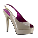 Johnathan Kayne Womens Natalia Nude Patent Pumps Pageant Shoes
