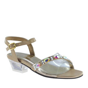 Johnathan Kayne Womens Punkin Taupe Synthetic Sandals Pageant Shoes
