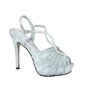 Johnathan Kayne Womens Glasgow Silver Metalllic Platforms Prom and Evening Shoes