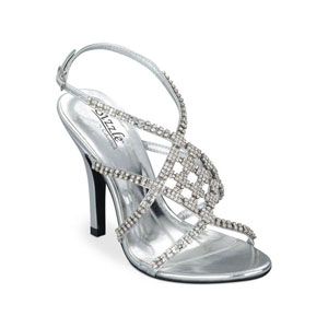 Sizzle Womens Broadway Silver Beaded Sandals Prom and Evening Shoes