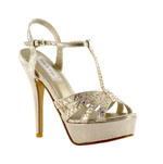 Touch Ups Womens April Champagne Metalllic Pumps Prom and Evening Shoes