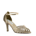 Touch Ups Womens Rapture Champagne Glitter Sandals Prom and Evening Shoes