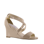 Touch Ups Womens Jenna Nude patent Synthetic Sandals Prom and Evening Shoes