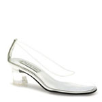 Touch Ups Womens Cinderella Clear Vinyl Pumps Prom and Evening Shoes