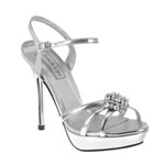 Touch Ups Womens Katie Silver Synthetic Sandals Prom and Evening Shoes