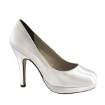 Touch Ups Womens Sammi White Satin Sandals Wedding Shoes